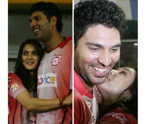 Preity Zinta Kissing Yuvraj Singh
