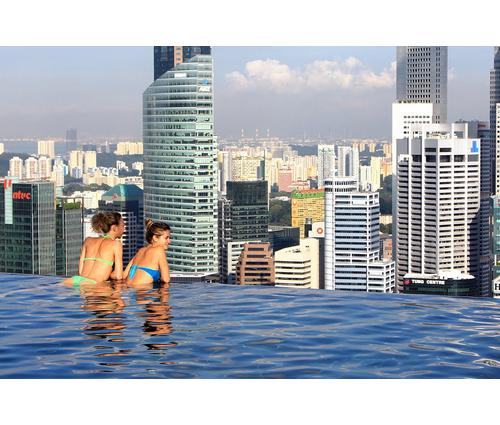 Amazing view of world s highest infinity swimming pool - Tallest swimming pool in the world ...
