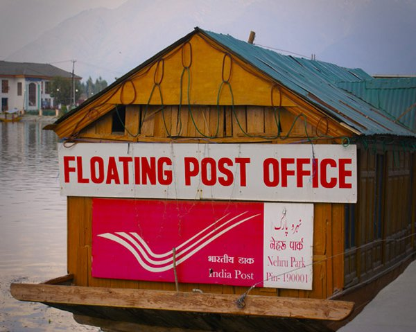 Indian postal services- serving even on waters!