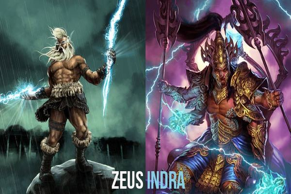 Image result for Indra & Zeus