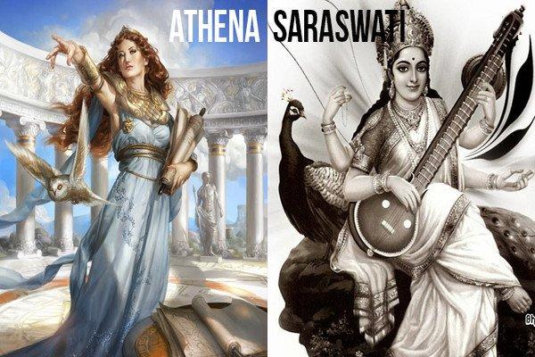 Image result for Saraswati & Athena