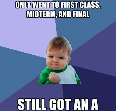 Whether I attend Classes or not, Im the best
