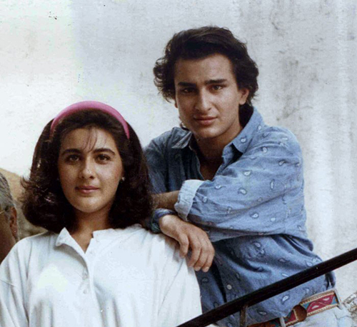 Unseen Pictures Of Saif Ali Khan With his First Wife ...